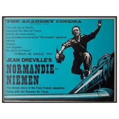Normandie Niemen 1960 Academy Cinema London UK Quad Film Poster, Strausfeld