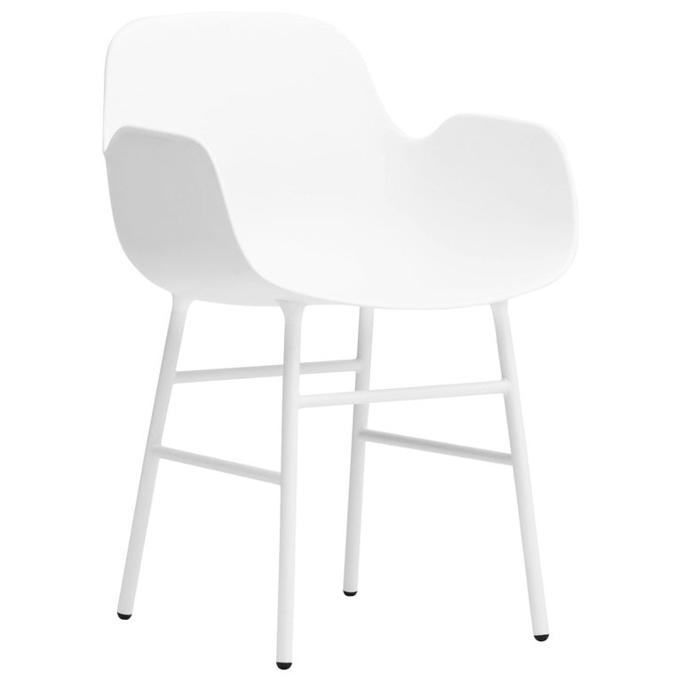 For Sale: White (Form White) Normann Copenhagen Form Armchair in Steel by Simon Legald