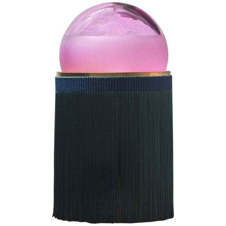 Normanna Large Lamp in Murano Glass and Tripolino Fringes by VI+M Studio For Sale