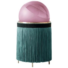 Normanna Medium Floor Lamp in Ruby Pink and Dark Green by Vi  and M