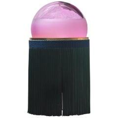 Normanna Medium Lamp in Murano Glass and Tripolino fringes by VI+M Studio (Euro)