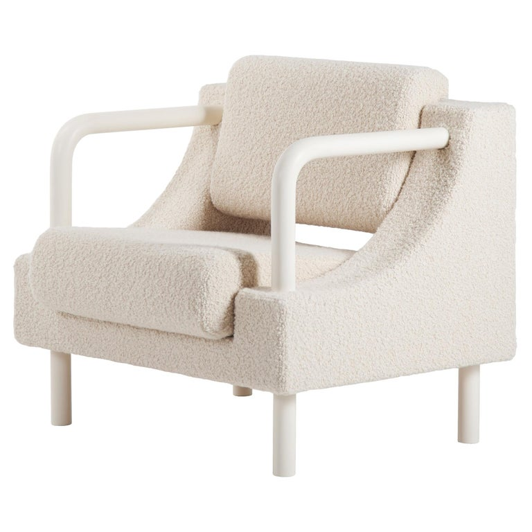 """""""Normative"""" Armchair in Warm-White Boucle Edition For Sale"""