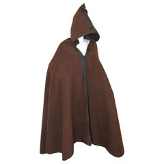 North Africa Berber Ethnic Moroccan Burnous Brown Wool Cape