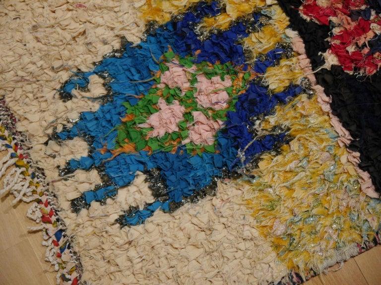 North African Tribal Khozema Rug Modern Moroccan Design For Sale 5