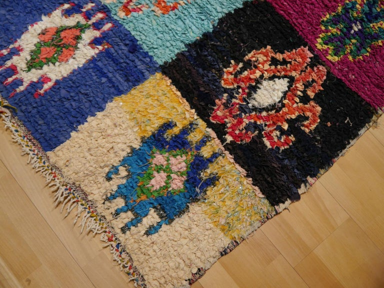 Hand-Knotted North African Tribal Khozema Rug Modern Moroccan Design For Sale