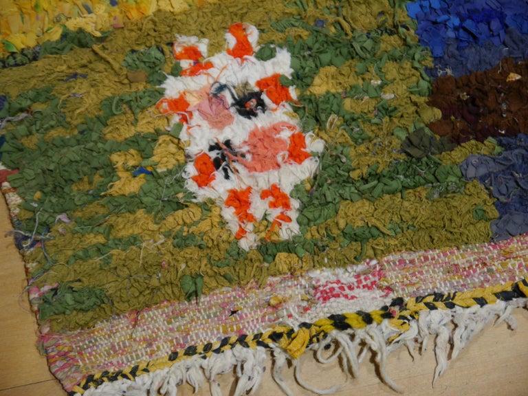 North African Tribal Khozema Rug Modern Moroccan Design For Sale 2