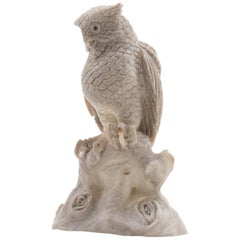 North American Moose Antler Carving of Owl