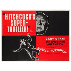 North by Northwest Original British Film Poster, 1950s