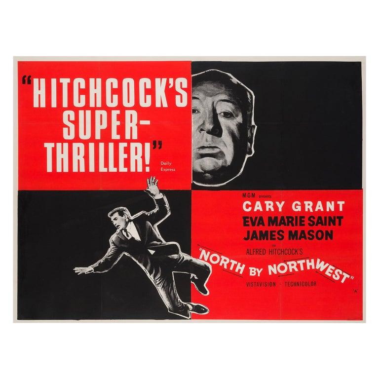 North by Northwest Original British Film Poster, 1950s For Sale