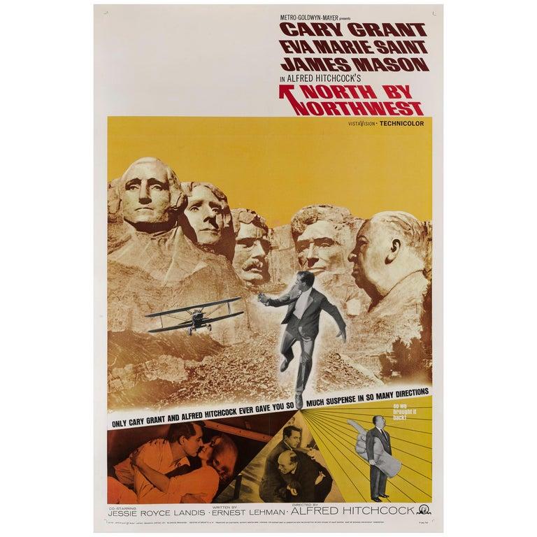 """North by Northwest"" Original US Film Poster For Sale"