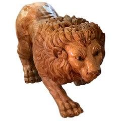 North Carolina Carved Pine Carousel Style Lion