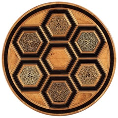 North European Late 19th Century Marquetry Centre Table