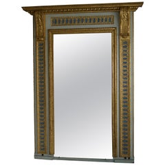 North Italian Painted Gilt Mirror, Late 18th Century