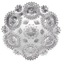 North Star American Brilliant Period Cut Glass Plate