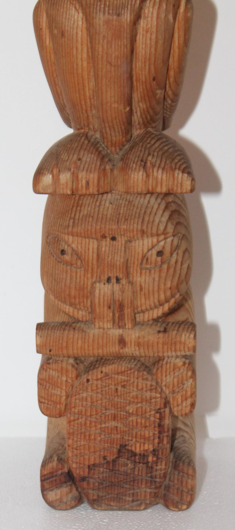 20th Century North West Coast Indian Totem Pole For Sale