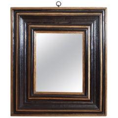 Northern Italian Baroque Ebonized and Giltwood Mirror, 17th Century