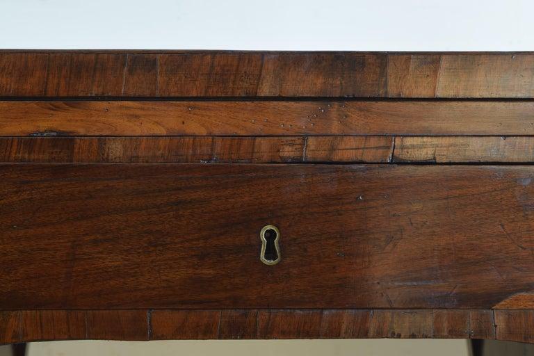 Northern Italian, Veneto, Walnut Neoclassic Period Writing Desk, early 19th cen For Sale 9