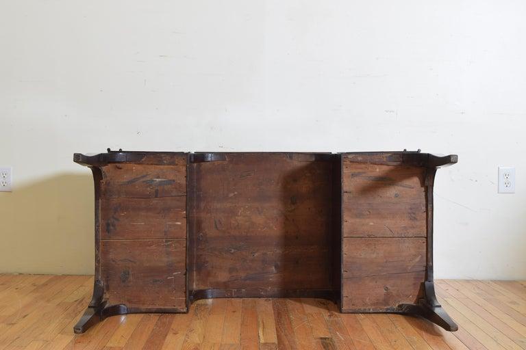 Northern Italian, Veneto, Walnut Neoclassic Period Writing Desk, early 19th cen For Sale 13