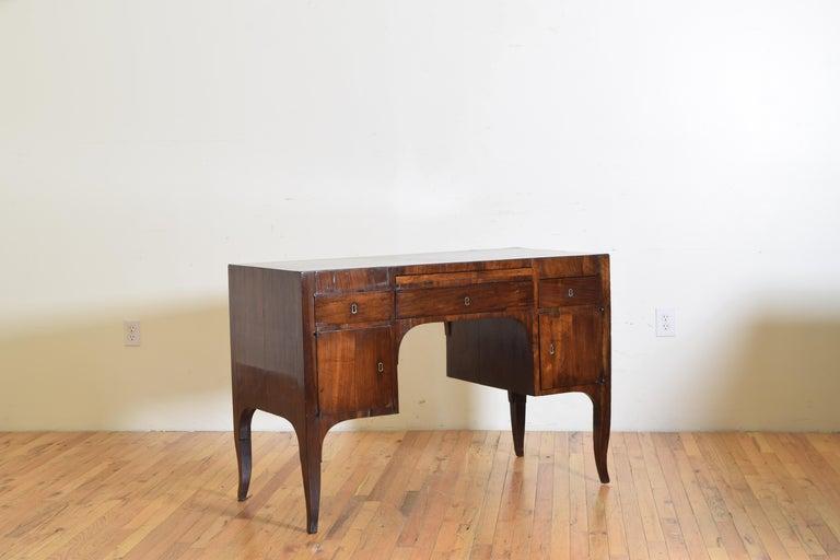 Neoclassical Northern Italian, Veneto, Walnut Neoclassic Period Writing Desk, early 19th cen For Sale