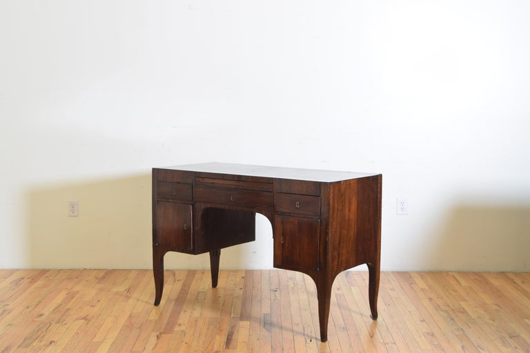 Early 19th Century Northern Italian, Veneto, Walnut Neoclassic Period Writing Desk, early 19th cen For Sale