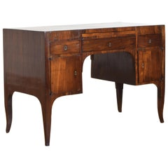 Northern Italian, Veneto, Walnut Neoclassic Period Writing Desk, early 19th cen