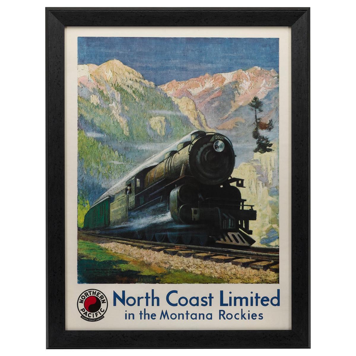 Northern Pacific Railroad Vintage Poster by Gustav W. Krollman, 1929
