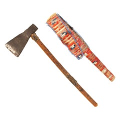 Northern Plains Quilled Belt Axe and Sheath