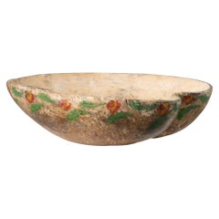 Northern Swedish Decoratively Painted Wood Bowl