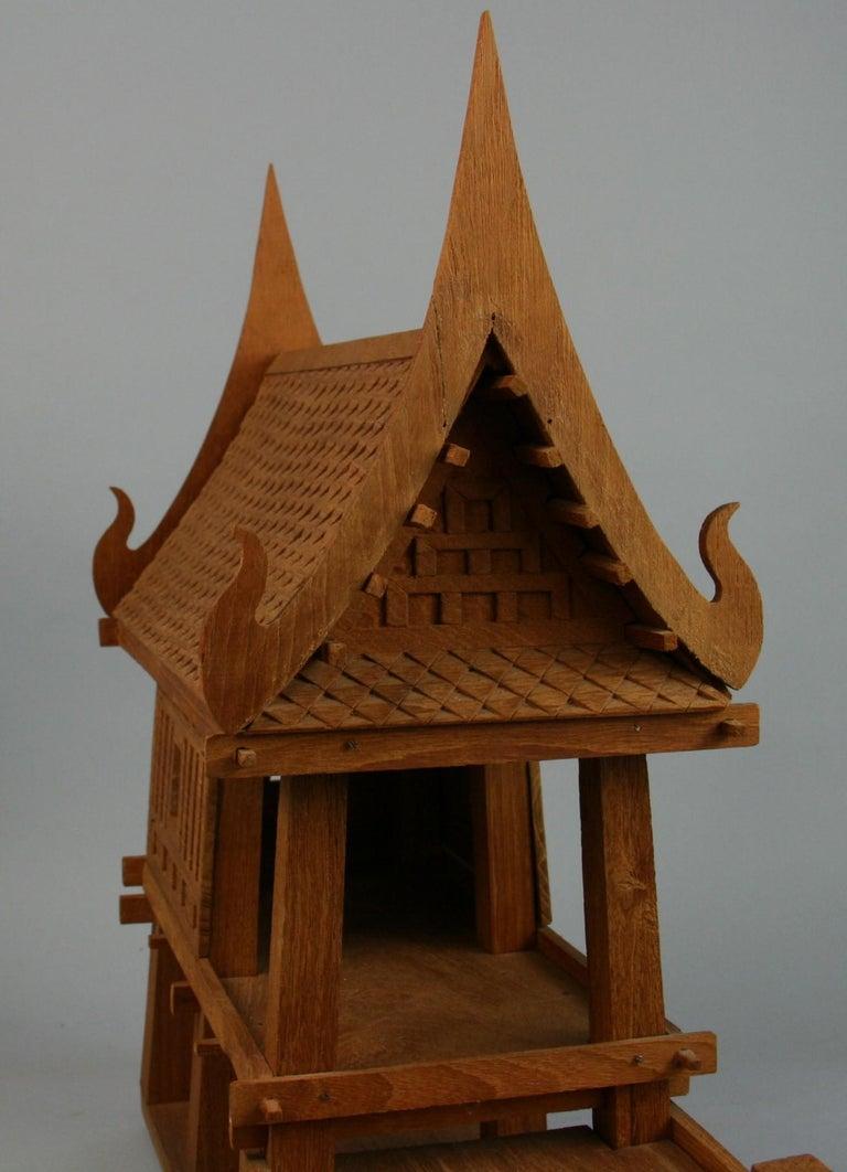 Northern Thailand Teak Wood House Model For Sale 5