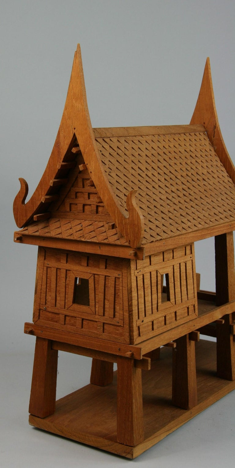 Northern Thailand Teak Wood House Model For Sale 6