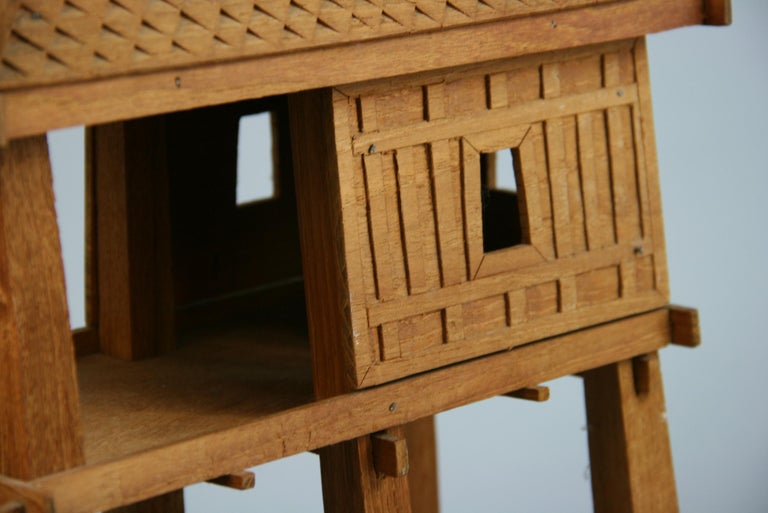 Hardwood Northern Thailand Teak Wood House Model For Sale
