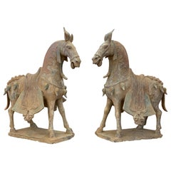 Northern Wei Dynasty Terracotta Horses, TL Tested, China, '386 AD-535 AD'