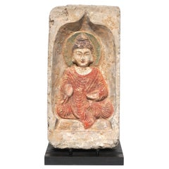 Northern Wei Dynasty Terracotta Sculpture Od A Seated Buddha 386-534 AD