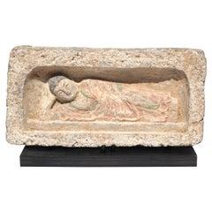 Northern Wei Dynasty Terracotta Sculpture of A Reclining Buddha 386-534 AD