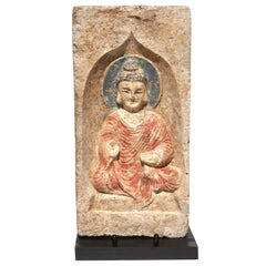 Northern Wei Dynasty Terracotta Sculpture of Buddha 386-534 AD