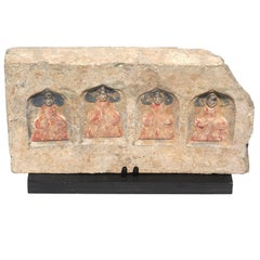 Northern Wei Dynasty Terracotta Sculpture of Four Seated Buddhas 386-534 AD