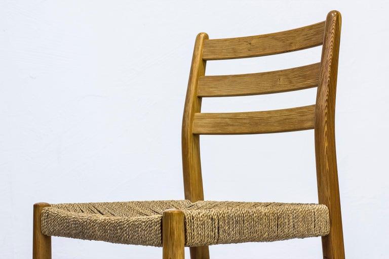 Scandinavian Modern Norwegian 1960s Dining Chairs in Pine by Harry Moen For Sale