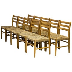 Norwegian 1960s Dining Chairs in Pine by Harry Moen