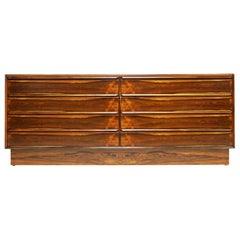 Norwegian 1960s Rosewood Eight-Drawer Chest by Westnofa of Norway