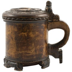 Norwegian Baroque Peg Tankard 18'th Ctr.