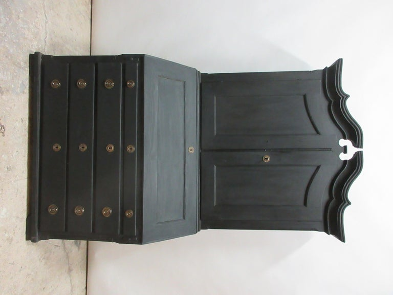 This is a Norwegian black secretary hutch, it has been restored and repainted with milk paints