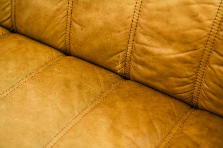 20th Century Norwegian Ekornes Sofa in Brandy Color Leather