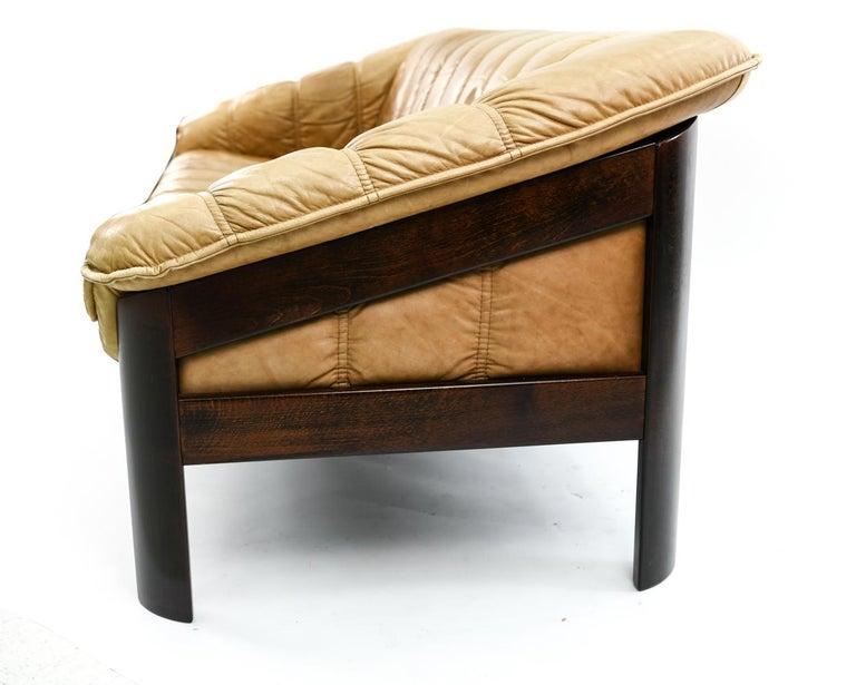 Norwegian Ekornes Sofa in Brandy Color Leather 2