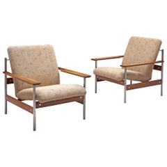 Norwegian Lounge Chairs by Sven Ivar Dysthe in Beige Fabric