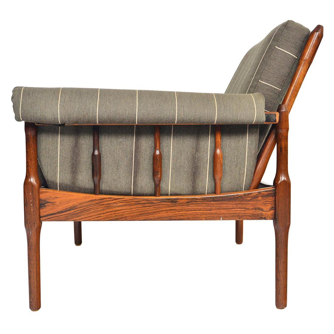 Norwegian Midcentury Lounge Chair in Rosewood by Torbjørn Afdal for Bruksbo