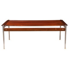 Norwegian Midcentury Rosewood & Chrome Coffee Table by Sven Ivar Dysthe