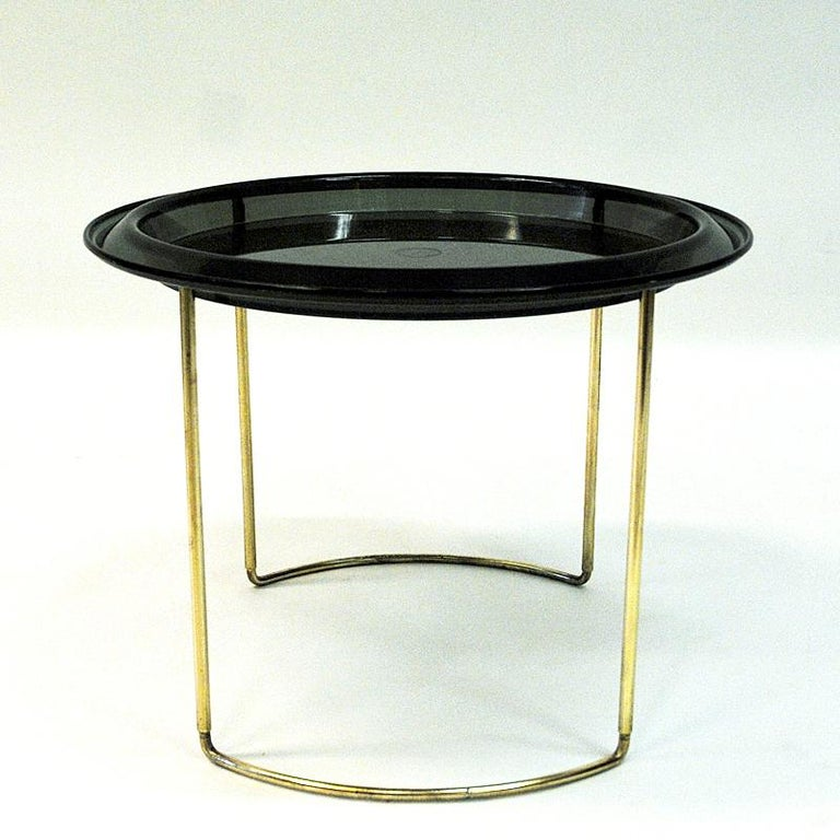 Scandinavian Modern Norwegian Midcentury Round Table by Hermann Bongard, 1960s For Sale