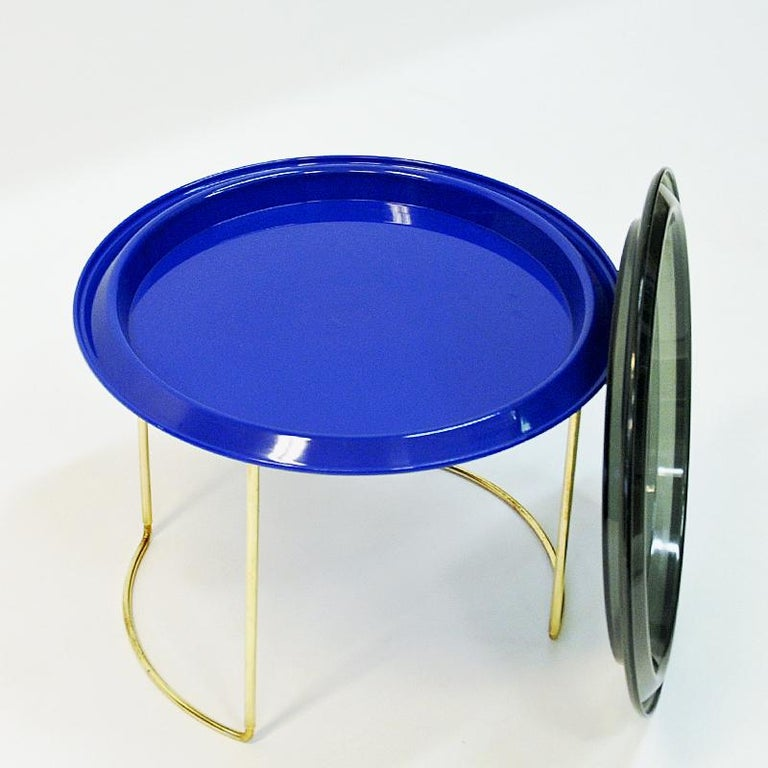 Norwegian Midcentury Round Table by Hermann Bongard, 1960s In Good Condition For Sale In Stockholm, SE