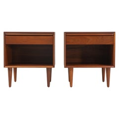 Norwegian Modern Walnut Nightstands by Westnofa