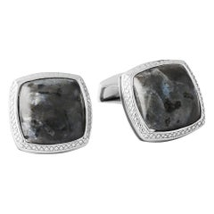 Norwegian Moonstone Silver Cufflinks, Limited Edition